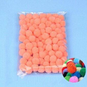 100PCS/Lot 20 Colors 15MM Multi Option Pompoms Soft Pom Poms Balls Wedding Decoration Shell Pink - intl
