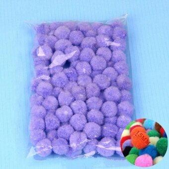 100PCS/Lot 20 Colors 15MM Multi Option Pompoms Soft Pom Poms BallsWedding Decoration Light Purple - intl