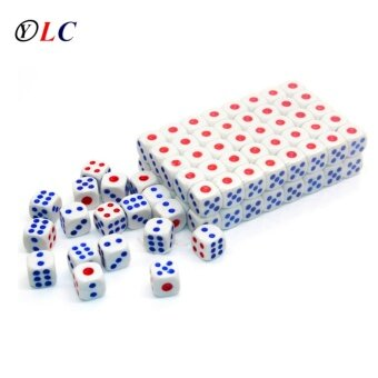 100x Standard Plastic 11mm Game White Decider Dice Die RPG Toy Bauble - intl