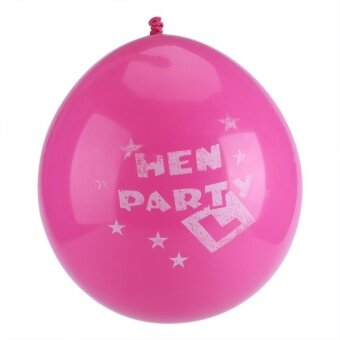10PC Hen Night Inflatable Latex Printed Balloon Birthday/Wedding/Party Decor (Hot Rose Red) - intl