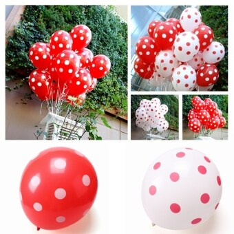 10Pcs Colorful Latex Polka Dot Balloon Birthday Party Wedding Holiday Decoration Red - Intl