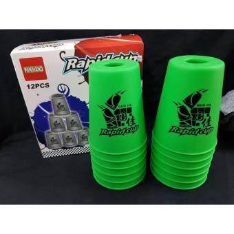 แก้วสแต็คสีเขียว 12 ใบ ...