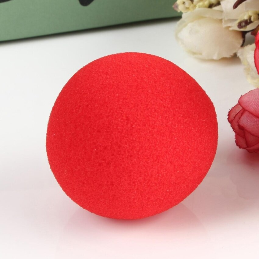 1Pcs Close-Up Magic Street Classical Comedy Trick Prop Soft Red Sponge Ball - intl