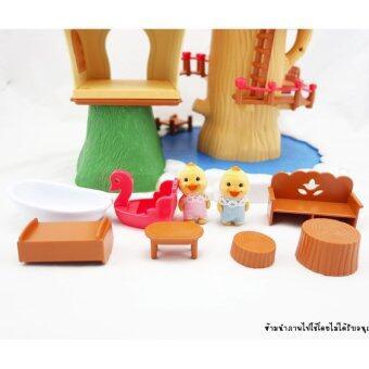 บ้านตุ๊กตา บ้านต้นไม้ พร้อมเฟอร์นิเจอร์ และตุ๊กตา 2 ตัว - 3