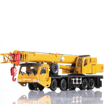 2016 Best Quality Alloy Engineering Vehicle Material HandlingVehicle Heavy Cranes Manipulator Arm Telescopic Boom Rotation CarModel Toys(yellow)