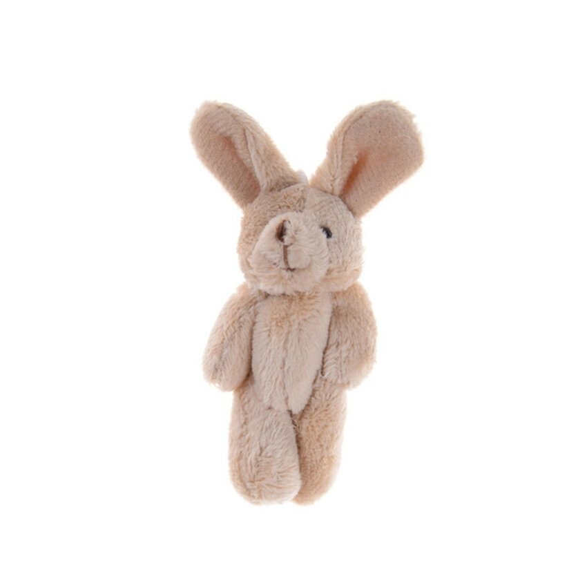 2Pcs/Set 11.5 Cm Wedding Gift Joint Rabbit DIY Pendant Plush Stuffed TOY For Baby Kid Brown 11.5cm - intl