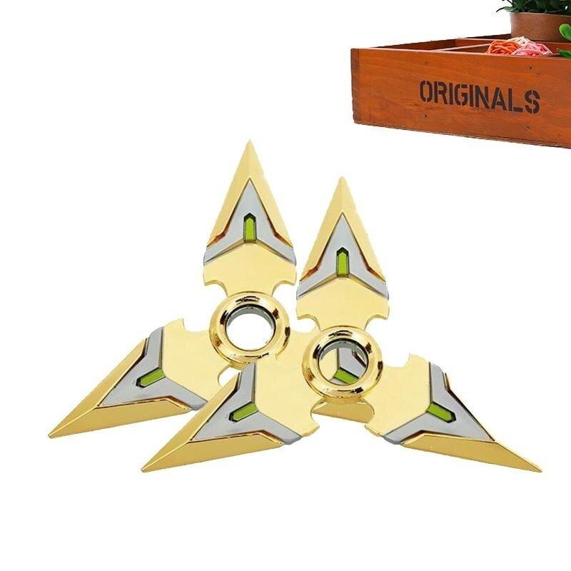 2pcs/Set Overwatch Genji Dart Rotatable EDC Hand Tri Spinner Fidget Cosplay Toy - intl image