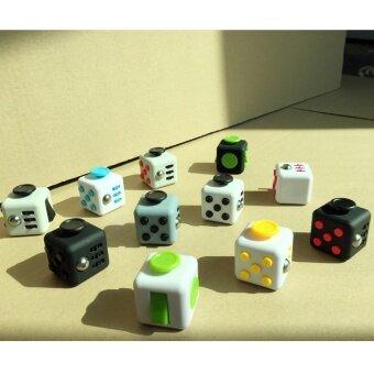 3 pcs Decompression cube  pressure  fret  dice  puzzle  creative toys  gifts  decompression cube  Fidget  CubeBlack gray Edition - intl