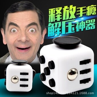 3 pcs Extract Rubik's cube  anti anxiety  dice  psychological decompression cube  two generation attention dice  Rubik's CubeRose red - intl