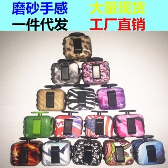 3 pcs New camouflage  pressure  compression  decompression  Rubik's cube  fidget  cube  vent anxiety toys  dice artifact22# cheetah pattern - intl