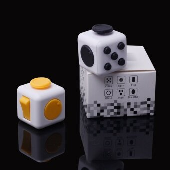 3 pcs Spot American Fidget cube decompression cube  resistance anxiety  irritability  decompression dice magic cube factory direct salesYellow - intl