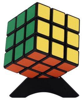 3 x 3 อาถรรพณ์ Rubik ลูกบาศก์ 3 x3คนการศึกษาสติปัญญาความเร็วบิดเล่นปริศนาสีดำ