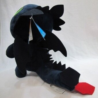 33cm How To Train Your Dragon 2 Toothless Plush Dolls 13inch Black NightFury Stuffed Toys Cute Animal Model - intl