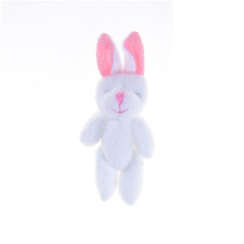 3Pcs/Set 8.5cm Lovely Joint Long Ear Rabbit Plush Toys kids Toys Doll kids Birthday Gift White 8.5cm - intl
