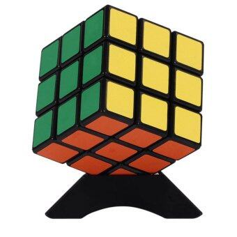3x3 Magic Rubik Cube 3x3x3 Speed Twist Puzzle Kid IntelligenceEducational Toys Black-show as picture - intl
