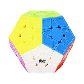 3x3 Megaminx Speed Cube Stickerless Megaminx Dodecahedron MagicCubes Brain Teaser Twist Puzzle Sculpted VersionSpecification:colorful - intl