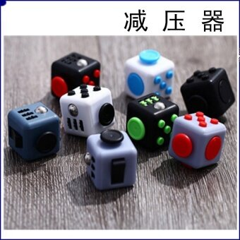 5 pcs American fidget cube decompression dice cube  anti anxiety pressure dice  artifact artifact decompression devicewhite - intl