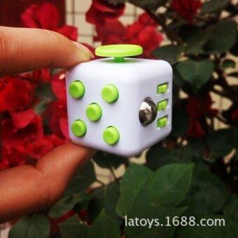 5 pcs Fidget cube decompression decompression anti anxiety Xinqite dice cube pressure vent toys diceMidnight Black - intl