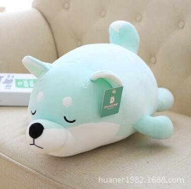 50cm Feather cotton soft Shiba Inu doll lying prone dog plush toys children sleeping pillow doll girl gifts - intl