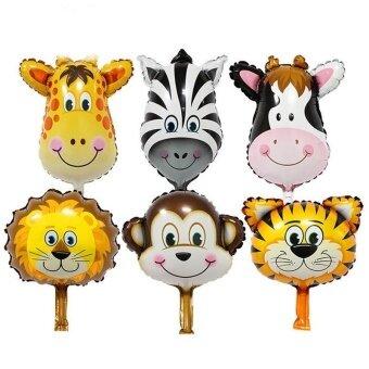 6Pcs Premium Quality Balloon Animals Design Hydrogen Helium AirFoil Party Balloon - intl