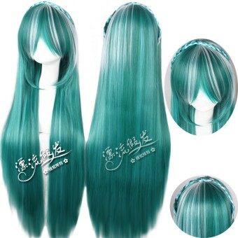 ฮาราจูกุ 80 cm โลลิต้าสีเขียวเข้มในชีวิตประจำวัน braids ขนมปัง