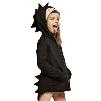 ADS Comfortable Fit Children's Clothes New Girls Dinosaur Clothes Kids Boys Sweatshirt Hoodies Jacket Coat Outerwear - intl