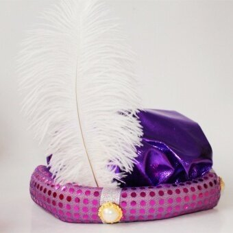 Aladdin Hat for Halloween and Costume Party and Adult Party Party Performance Hat-Purple - intl