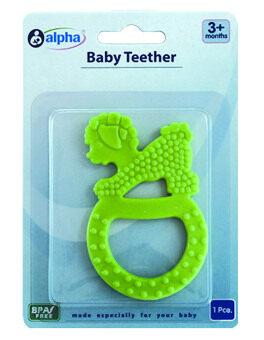Alpha Baby Teether Cute Puppy Design (Green) ...