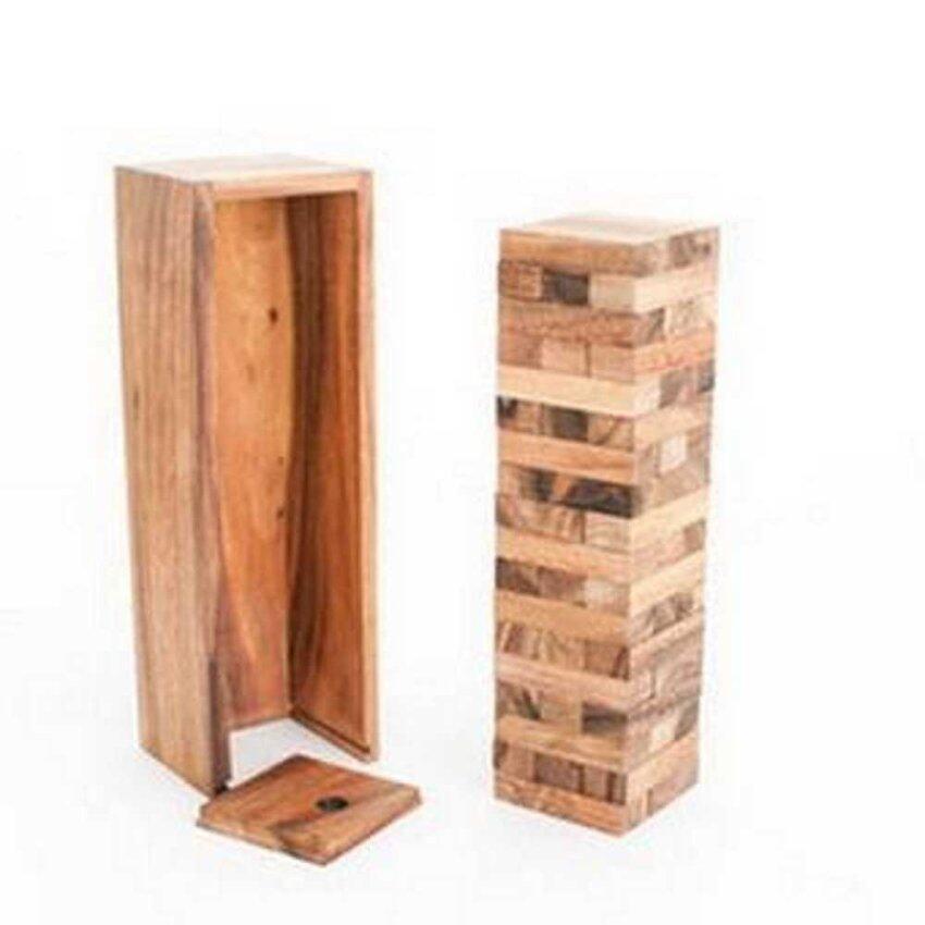 Ama-Wood เกมส์ตึกถล่ม เล็ก Jenga Tumble Tower S