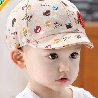 Baby Boys Soft Cotton Comfortable Hats Travel Style Baby NewbornCaps - intl