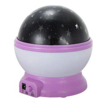 Baby LED Night Light Moon Star Projector Lamp 360 Degree RotationWith USB Cable - intl - 2