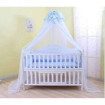 Baby Mosquito Net Baby Toddler Bed Crib Dome Canopy Netting (butterfly blue) - intl