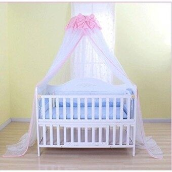 Baby Mosquito Net Baby Toddler Bed Crib Dome Canopy Netting (butterfly white) - intl