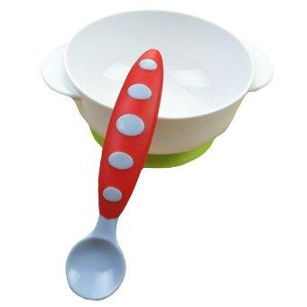 Harga Baby Spoon Feeding Spoon Silicone Baby Flatware (Red)