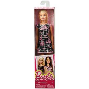 Barbie® Doll - Barbie Floral Art on Black Dress (image 1)