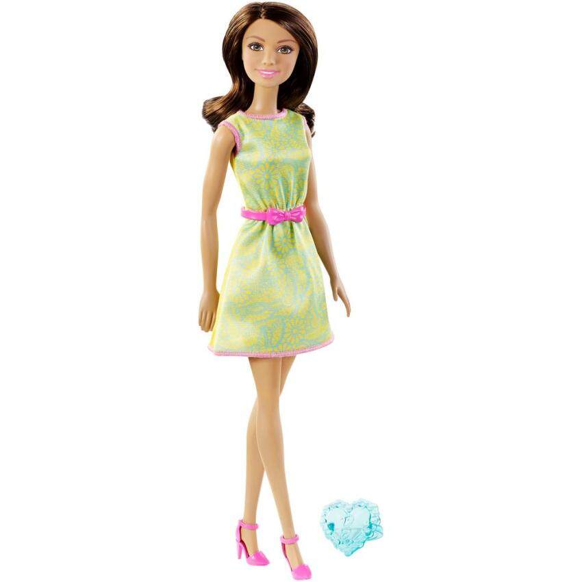 Barbie® Doll Green and Yellow Dress