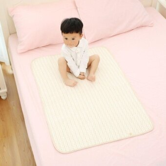 Beau Stripe Organic Cotton Waterproof Layer Baby Changing Urine Pad Bed Sheets multi-color S - intl - 2