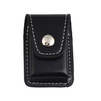 Black Leather Clip-On Lighter Sheath Pouch Case Holder For LANGSHENG - intl