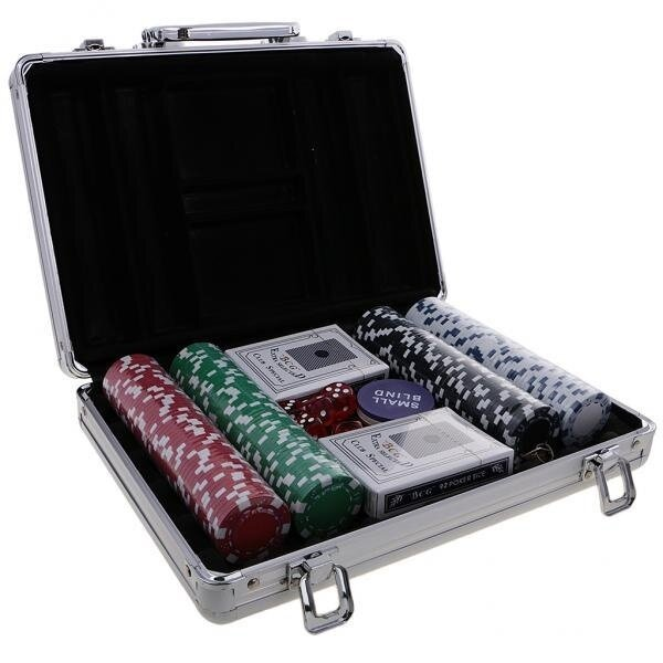 BolehDeals Casino Chips Poker Set with All-in-one Aluminum Case for Party Club 200pc - intl