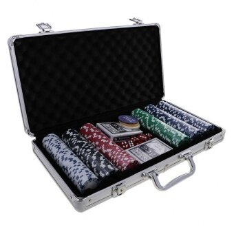 Harga BolehDeals Casino Chips Poker Set with All-in-one Aluminum Case for Party Club 300pc - intl