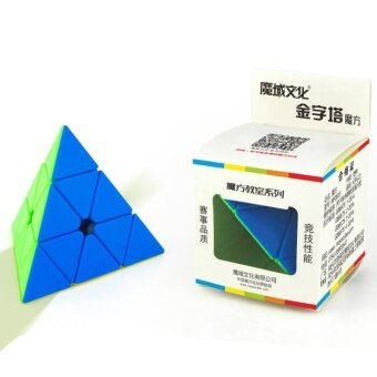Brain Teaser Puzzle Cube Pyraminx Stickerless Pyramid Speed Cubefor Magic Cubes Beginners Puzzle EnthusiastsSpecification:Fluorescent fo - intl