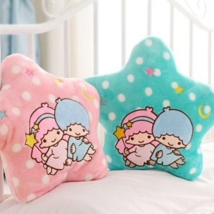 candice guo! Newest arrival hot sale little twin stars spots plush toy stuffed cushion nap pillow Valentine's birthday gift 1pc - intl
