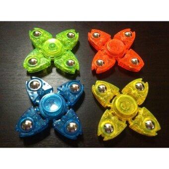 Candy Toy Hand Spinner Fidget สปินเนอร์ 4 เเฉกลูกเหล็ก สีสันสดใส