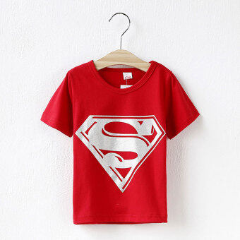 Harga Children Kids Clothing Tees,Cool Superman Baby Boys T Shirts ForSummer,Children Outwear Baby T-shirt (Red)