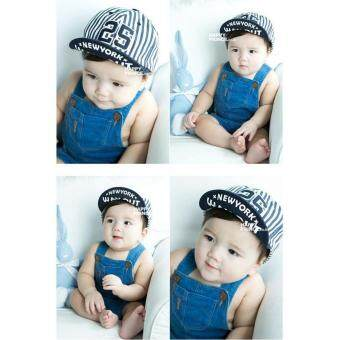 Children Kids Striped New York 25 Boys Girls Hats Kids BaseballCaps - intl