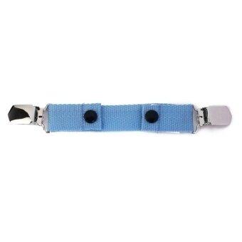 Children Kids Trousers Pants Belt Clip Adjustable for Waist Size Sky Blue - intl