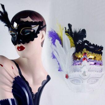 COS เจ้าหญิงคริสมาสต์ประสิทธิภาพชุดแฟนซีหน้ากากขนนก