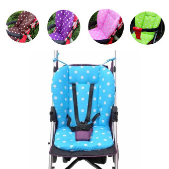 Harga Cotton Baby Stroller Seat Cushion Polka Dot Printed Liner Seat SoftThick Pad(Blue) - intl