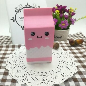 Cute Slow Rising Milk Bag Toys Soft Squishy Milk Box Stress AnxietyReducer Creative PU Vent Toy Pink by LuckyGirl Store – intl