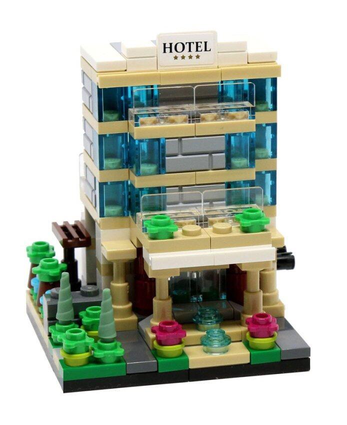 Decool CITY Mini Street View Bricks Toys Lego (Hotel) ชุดตัวต่อ เลโก้ ของเล่น (ชุดโรงแรม)
